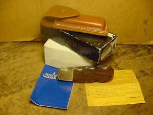 "Estate ""UNUSED"" Gerber Magnum Folding Lockback Knife w/Box, Sheath & Papers"