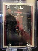 Trae Young RC Panini Chronicles Studio Rookie Card  #298 Refractor -Hawks