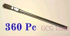 """360 Pc 3/8"""" Acid Brushes Metal Handle Horsehair Bristle Hobby Glue Oil 3/8"""""""