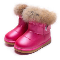Toddler Girl Winter Boots Kids Snow Shoes Warm Non Slip Waterproof Outdoor Wear