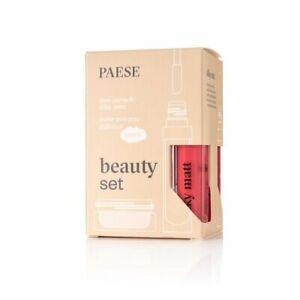 PAESE Silky Matt 701, 703 + Puff Cloud/ Gift set lipstics + powder under eyes