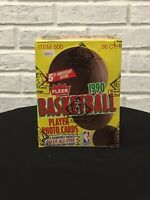 1990 Fleer Basketball Wax Box BBCE FASC (from a sealed case)