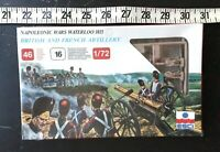 Napoleonic Wars Waterloo 1815 1/72 SEALED British French Artillery 46 pieces 219