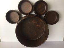 Wood Bowls Round Salad Bowl Set Of 5