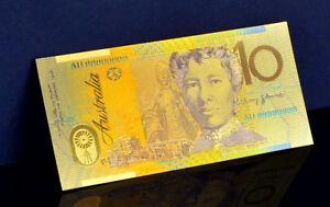 "★★ AUSTRALIE / AUSTRALIA : BILLET POLYMER  "" OR "" DU 10 DOLLARS ★"