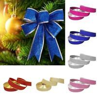 Bow Ribbon High Grade Christmas Tree Decoration For Home Party Kit Decor Ho R9F7