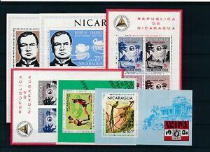 [G43177] Nicaragua 6 good sheets Very Fine MNH