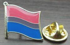 Bisexual Flag Lapel Pin Badge Bi Sexual Pride LGBT Diversity Symbol Sign Brooch