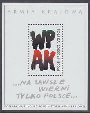 POLAND - 1992 50th Anniv of Formation of Polish Underground Army MS - UM / MNH