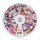 1200pcs Mixed Nail Art Tips Glitters Rhinestones Slice Decoration Manicure Wheel