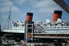 1974 long beach queen mary  vintage 35mm slide Fr1