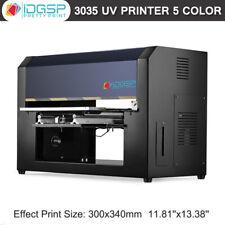 110v 3035 Uv Printer 5 Color For Phone Case Glass Metal Wood Uv Flatbed Printer