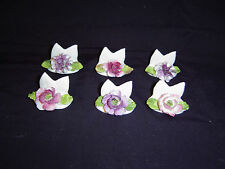 Set of 6 pieces of Coalport floral place markers