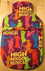 HIGH SCHOOL MUSICAL HOT WATER BOTTLE COVER PADDED & LINED. FREE UK DELIVERY