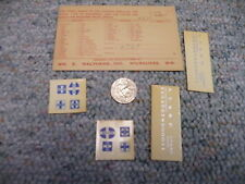 Walthers decals HO ATSF diesel switcher  H66