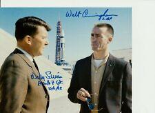 New ListingAstronauts Walt Cunningham & Wally Schirra Signed 10X8 Photo in person