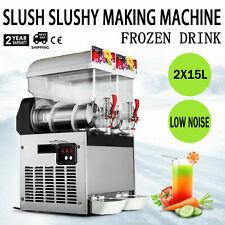 New Listing30L Frozen Drink Slush Making Machine Smoothie Maker Fit Granita Drinks Business