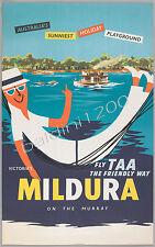 "AUSTRALIA HIGH QUALITY RETRO VINTAGE ""MILDURA"" TRAVEL POSTER PRINT"