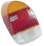 98-1076-B Tail Light Lens, Fits Left or Right, 68-70, Euro Style, Amber/Red/Whit