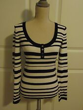 NWT White House Black Market Striped Knit Top~ size M