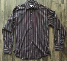 Banana Republic Men's Long Sleeve Button Down Shirt Size XL 17-17 1/2 Black Pink