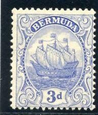 Bermuda 1924 KGV 3d ultramarine MLH. SG 83. Sc 88.
