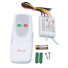 1 Way Light Lamp Digital Wireless Remote Control Switch ON/OFF 110V Single Pole