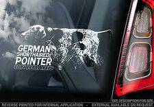 German Shorthaired Pointer - Car Window Sticker - Dog on Board Sign Gift - TYP1