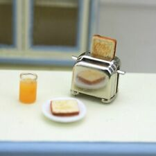 1/6 1/12 Doll House Miniature Toaster Bread Machine With Toast Kitchen Cookware
