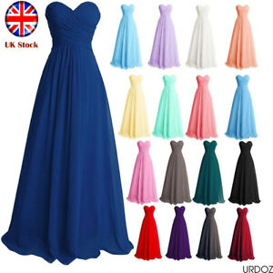 Long Bridesmaid Dresses Gown Prom Formal Evening Party Ball Gown Dress Size 6-24