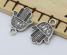 Tibetan silver charm pendant hand fit DIY Necklace 10-200pcs 18x15mm 1.4g