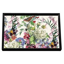 "Michel Design Works Decoupage Wooden Vanity Tray ""Romance"" 12.6x8x1.5"" New"