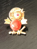 Vintage Collectible Sarah Coventry Bird Colorful Metal Pin Back Lapel Pin