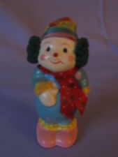 Winter Clown With Stocking Cap Scarf & Ear Muffs Adorable