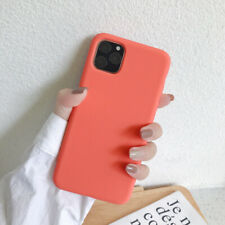 For iPhone 11 Pro Max Liquid Silicone Case TPU Full Protection Rubber Soft Cover