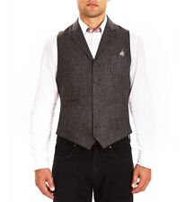 Guide London Charcoal WaistCoat With Leatherette Ticket Pocket Large TD076 UU 08