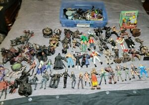 Huge lot of 61 McFarlane Action Figures Lot Spawn Lady Death Horror Comedy MORE