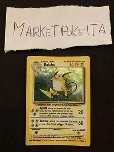 Lotto Carte Pokemon RAICHU 14/102 Rare Holo Set Base Ita no Charizard