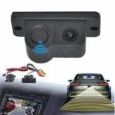 2in1 170º Car SUV Reverse Parking Radar Sensor w/ Rear View Backup Camera Kit DC