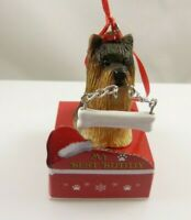 my best friend yorkie terrier holiday Christmas Ornament xmas dog bone