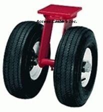"S-72210-PR Hamilton 21"" Dual Wheel Pneumatic Swivel Plate Caster, 5,000 lbs Cap"