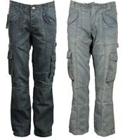 New Mens APT Cargo Combat  Denim Pants Heavy Duty Jeans Trousers Summer