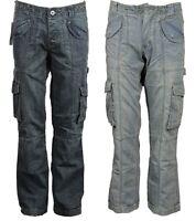 APT Mens Cargo Combat Jeans Heavy Duty Denim Trousers Summer Denim Pants