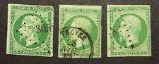 N° 12 5 c Vert +12 b Fonce + 12 c Fonce Sur Vert Oblitéré B /TB  Bon Cote 715€