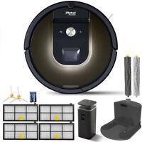 iRobot Roomba 980 App-Controlled Self-Charging Vacuum w/ WiFi Accessories Bundle