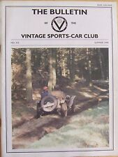 VINTAGE SPORTS-CAR CLUB THE BULLETIN #223 SUMMER 1999 BROOKLANDS DRIVING TEST