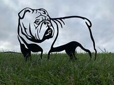 More details for english bulldog rusty metal dog garden art
