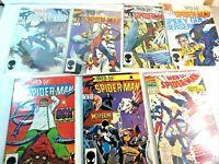 Vintage Lot (7) Marvel Comic Book Web of Spider-Man #1, 2, 3, 5, 9, 13, 29