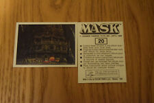 Mask Panini sticker 1986 ( M.A.S.K.  Kenner parker toys ) number 20
