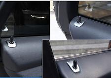 Steel Matt Interior Door lock pins cover trim 4pcs For BMW X5 E70 2007-2013